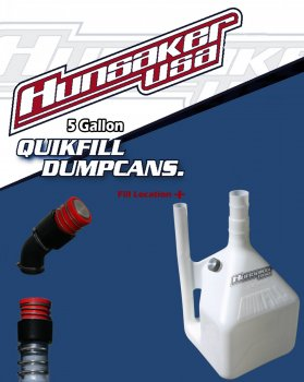 "Hunsacker 5 Gallon / 18.9 Litres: QuickFill Dump Can: (Competition Series) w/2.25"" Male Dry Break Valve: P/N 3004-5"