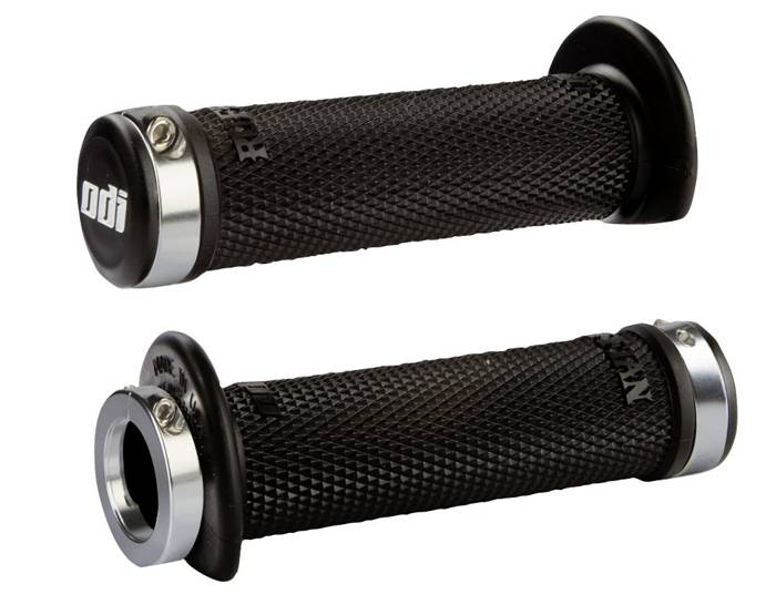 ODI Ruffian Lock-On Grips, 120mm, w/ Flange, Black
