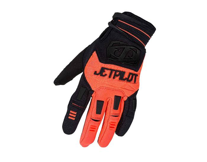 JetPilot Matrix Full Finger Race Gloves - Orange