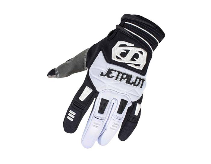 JetPilot Matrix Full Finger Race Gloves - White