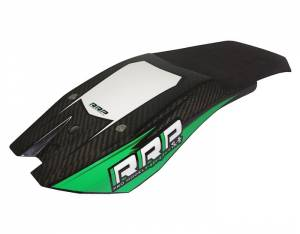 Rick Roy Ninja Carbon Look Chin Pad - Black/Green