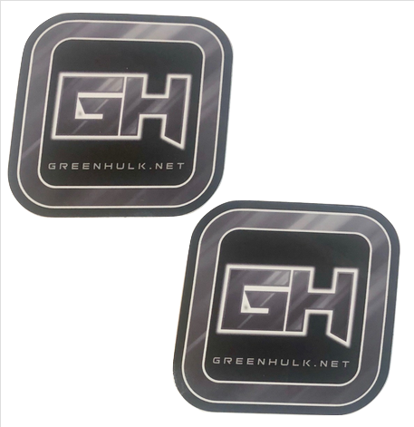 GREENHULK.NET DECAL, 3IN X 3IN (two pack - grey)