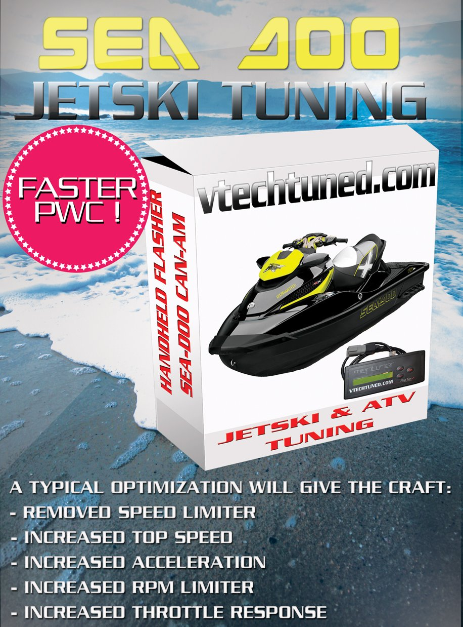 One Tuning License for Sea Doo, Kawasaki, Yamaha & Can Am ATV's