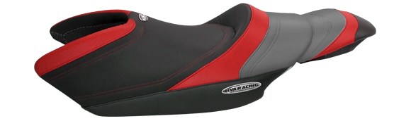 RIVA SEAT COVER, YAMAHA FZR, BLACK/Red/GRAY