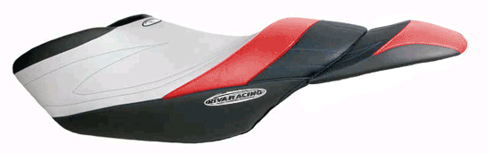 RIVA Yamaha FZR Seat Cover BK/RD/SIL